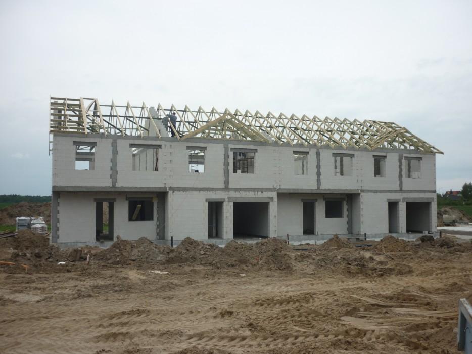 Wiązary dachowe - dom szeregowy Brzezina