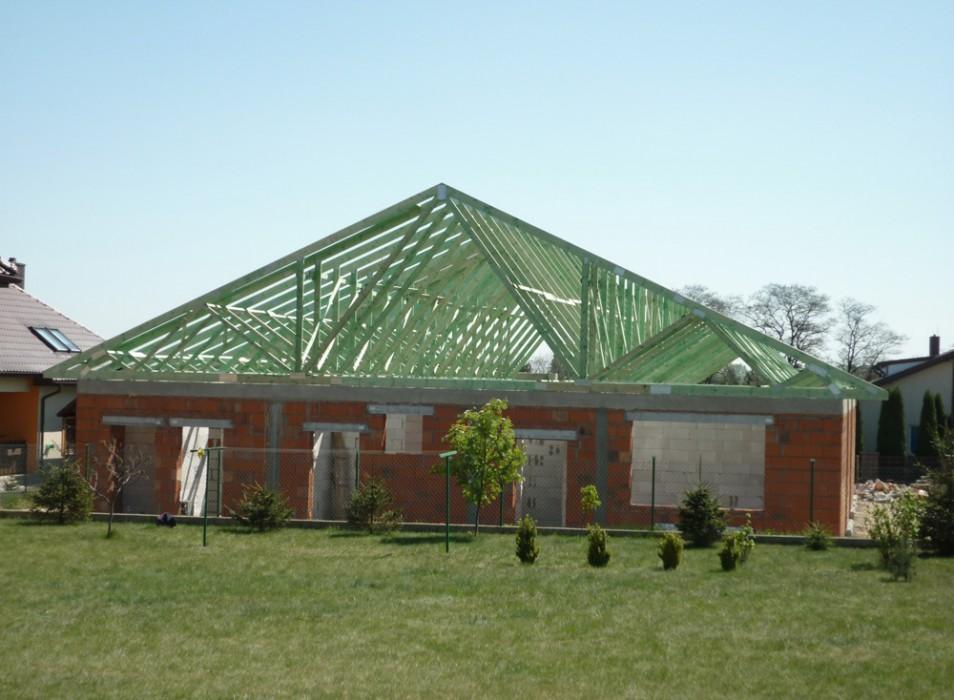Dachy prefabrykowane - dom jednorodzinny Konin