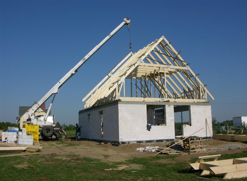Konstrukcje dachowe drewniane - dom jednorodzinny Lubnów