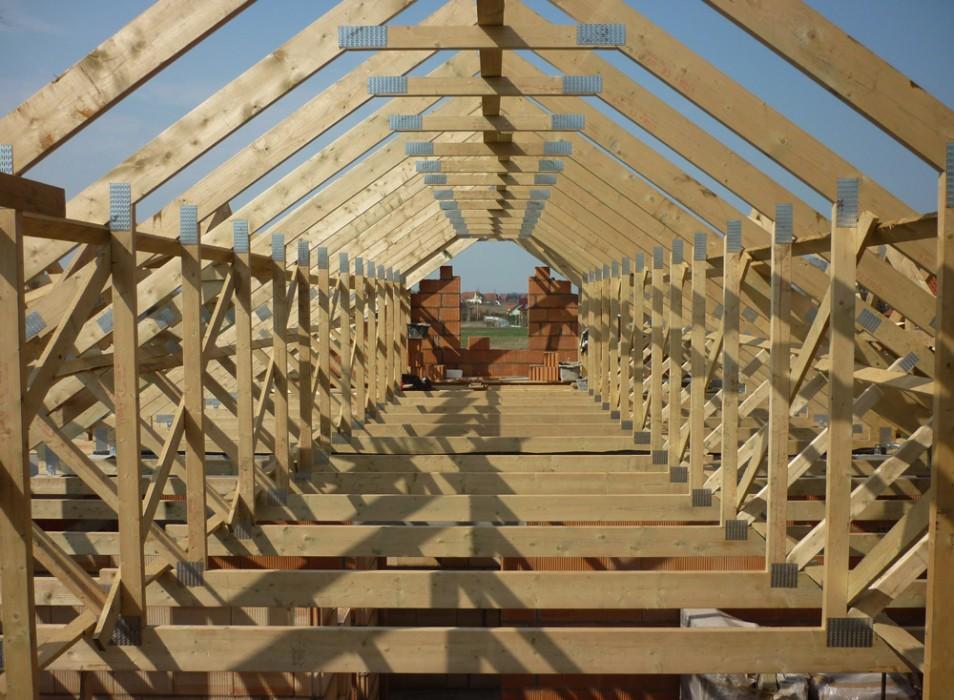 Drewniane konstrukcje dachowe - dom jednorodzinny Strzelin