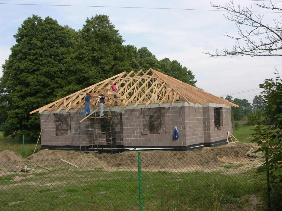 Więźba prefabrykowana - dom jednorodzinny Wieruszów