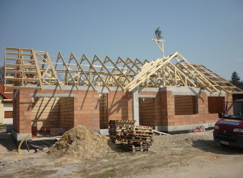 Konstrukcja dachowa drewniana - dom jednorodzinny Wrocław