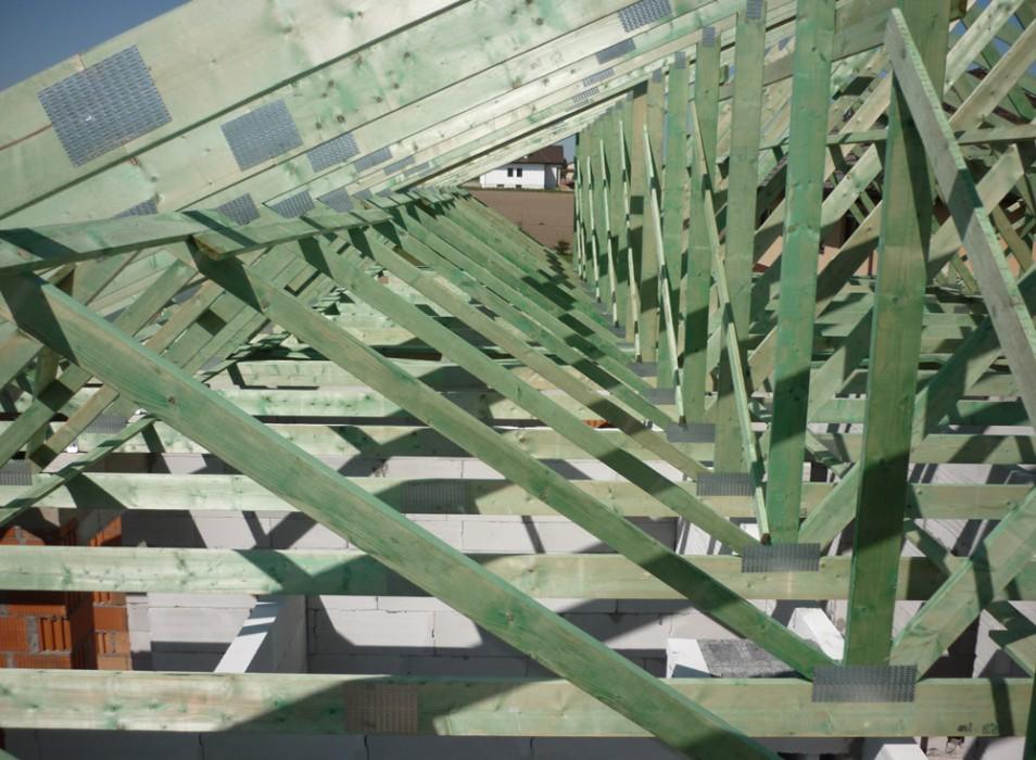 Drewniane konstrukcje dachowe - budynek wielorodzinny Poznań