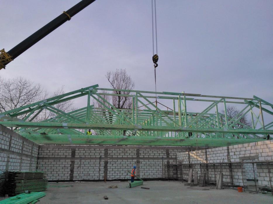 Drewniane konstrukcje dachowe - obiekt handlowy Kępno