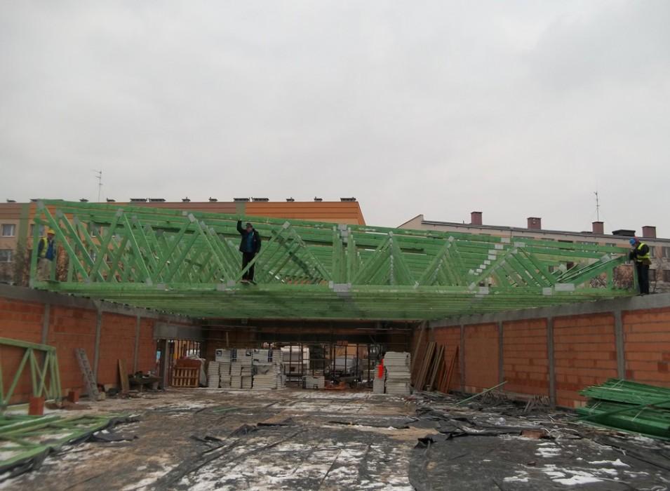 Dachy prefabrykowane - obiekt handlowy Legnica