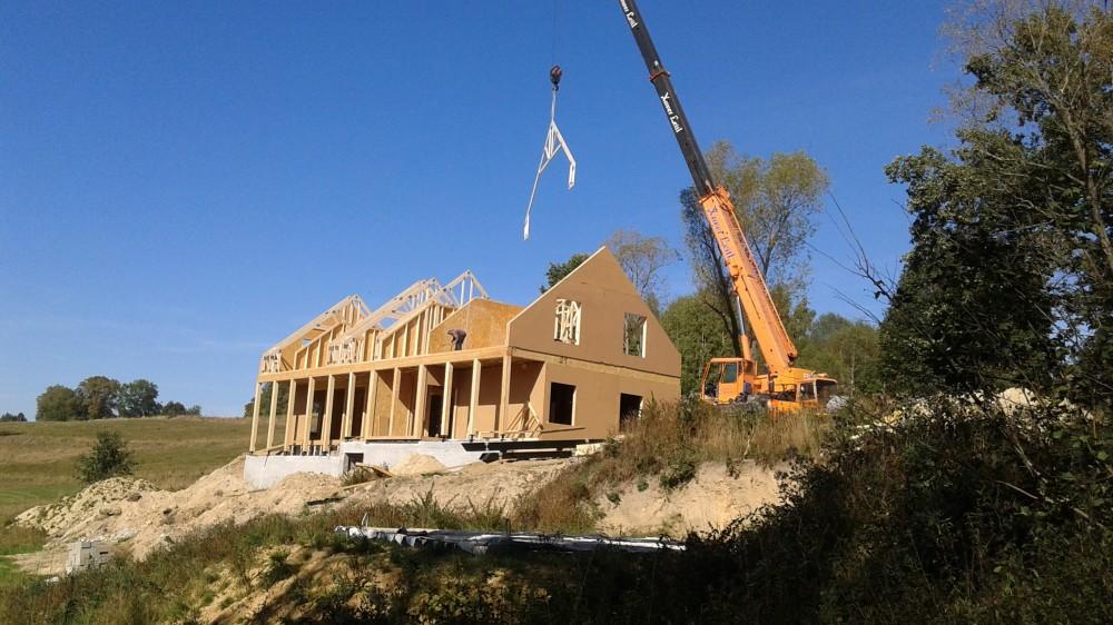 Wiązary dachowe - dom jednorodzinny Rębiszów
