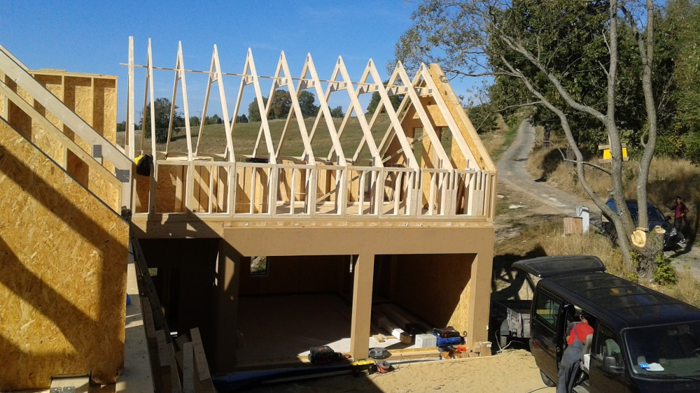 Konstrukcje dachowe drewniane projekty - dom jednorodzinny Rębiszów