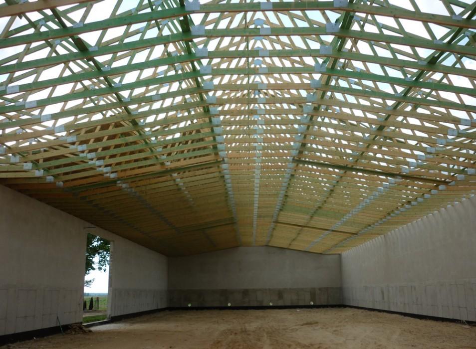 Dachy prefabrykowane - budynek magazynowy Kluczbork