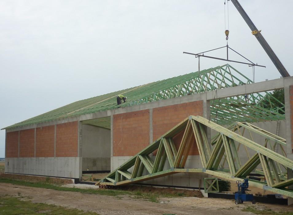 Dachy prefabrykowane - budynek magazynowy Nowa Ruda